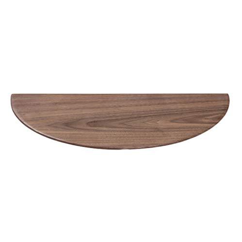 Unbekannt Massivholz Wandregal schwimmende Regal, halbrunde Lagerregal Wanddekoration Rahmen, kann Schlafzimmer Nachttisch, Radius 20cm ersetzen