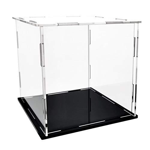LANSCOERY Vitrina de acrílico Caja de encimera Organizador de Cubos Soporte Escaparate de protección a Prueba de Polvo (9x9x9inch;23x23x23cm)