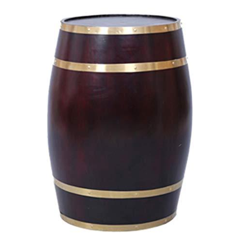 catch-L Barril Madera Maciza Barril De Vino Carbonización A Alta Temperatura Enfriador De Vino Barril De Vino Blanco Bar Mesa De Bodega (Color : Retro, Size : 55)