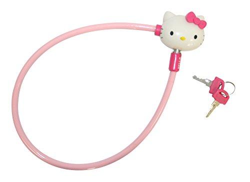 Hello Kitty meisjesfietsslot met kunststof lus en 2 sleutels, roze