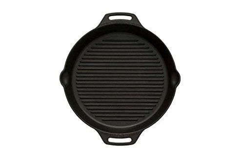 Petromax Grillpfanne, Steakpfanne, Feuerpfanne mit Rillen Boden (Ø 35 cm mit 2 Henkeln)