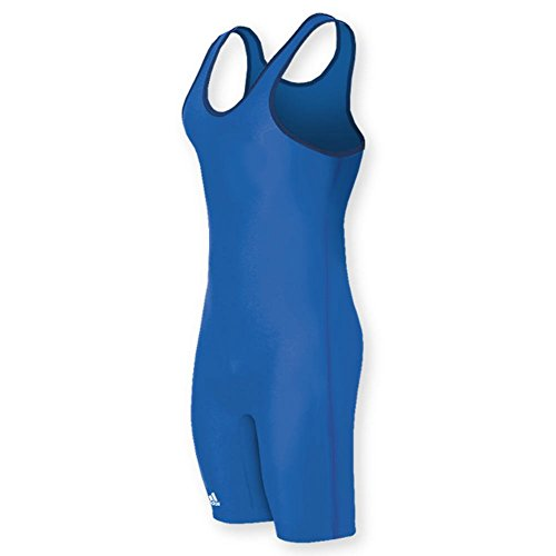 Adidas aS101s Lycra Solid Wrestling Singlet - Royal- XL