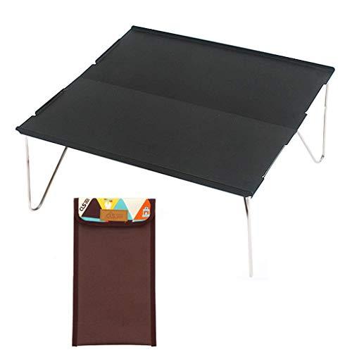 NewbieBoom®-Lapdesks Mini Mesa Plegable para Exteriores Mesa Simple Mesa de Aluminio Mesa de Camping montada portátil Mesa de Barbacoa Barbacoa Oficina Portátil Autoconducción