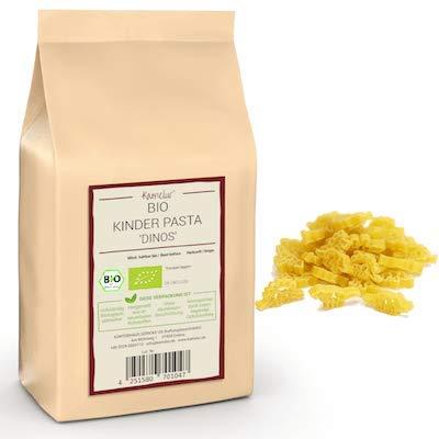500g BIO Kinder Nudeln 'Dinos' – BIO Pasta für Kinder ohne Zusätze – Dino Nudeln BIO in biologisch abbaubarer Verpackung