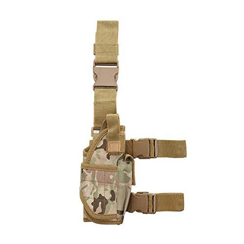 Poliéster Táctica De La Pierna Bolsas Molle Pata Ajustable Funda Ejército Pistola Bolsa Muslo De La Pierna Pistolera Deportes Al Aire Libre Senderismo Bolsa Accesorios Militares