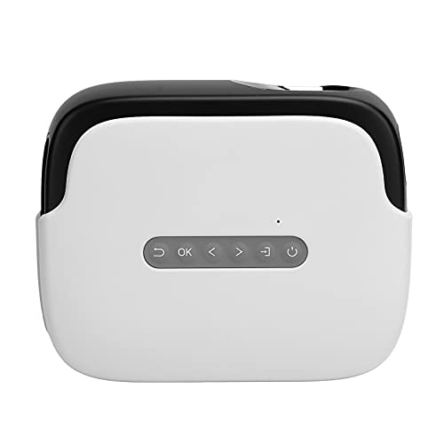 Projektor, Smart Projector Einzigartiger Großbild-TV-Decoder-Chip 100 Zoll Hochwertige Bildqualität für Computer für Kopfhörer für Zuhause(Übersetzen)