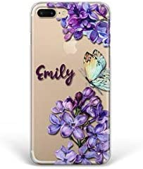 Kaidan iPhone 12 Mini Custom Name Case X XR XS Lilac Flowers 11 Pro Max 7 Plus 5 6 6s SE Butterfly product image