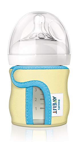 Philips AVENT Glass Baby Bottle Sleeve, 4 Ounce (Colors May Vary) (SCF675/01)