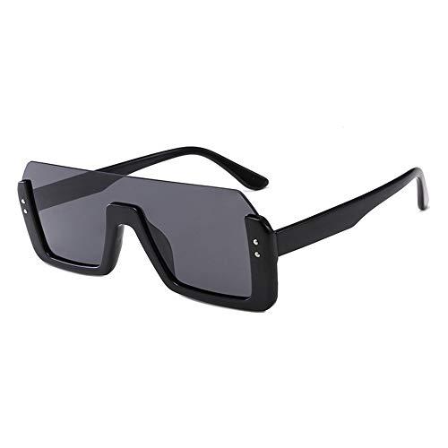 Asncnxdore Gafas De Sol UV400 Gafas De Medio Marco De Una Pieza Gafas De Sol De Cara Caja Grande Gafas for Mujer