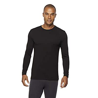 Mens Heat Plus Crew Neck Baselayer Top, Black, Small