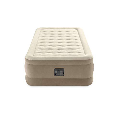 Intex 64426 Materasso Singolo Ultra Plush Dura Beam, con Tecnologia Fiber-Tech e Pompa Elettrica Incorporata, 99 x 191 x 46 cm