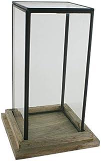 CAL FUSTER - Urna de Cristal Cuadrada Alta. Medidas: 27x17x17 cm.