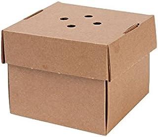 BIOZOYG 100x Burger-Box con Tapa Plegable I Bio cartón compostables Embalaje para Hamburguesa cartón Kraft con Agujero I E...