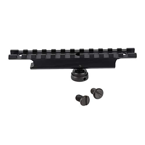 ToopMount Carry Handle Rail Mount Adapter Tactical 20mm Weaver Scope Base Rail 12 Slots Scope Mount Aluminum Picatinny Rail Set for Outdoor Sport