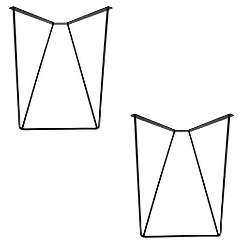 2x Natural Goods Berlin Design Tischgestell'Cilp' Set Hairpin Legs Tischbeine |12mm Stahl | Esstisch, Schreibtisch, Konferenztisch | Tischkufen...