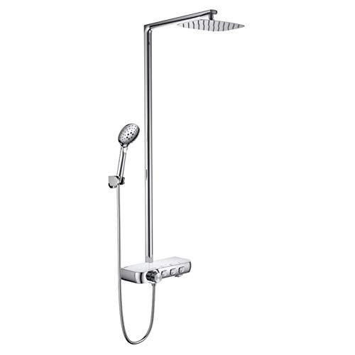 ZJN-JN Ducha de Mano de la Ducha termostática del termostato Ajustable de Flujo de Agua de baño de Ducha, de fácil instalación (baño y Ducha Tipo de Grifo: Compatible with empotrar B + amp; S grifos)
