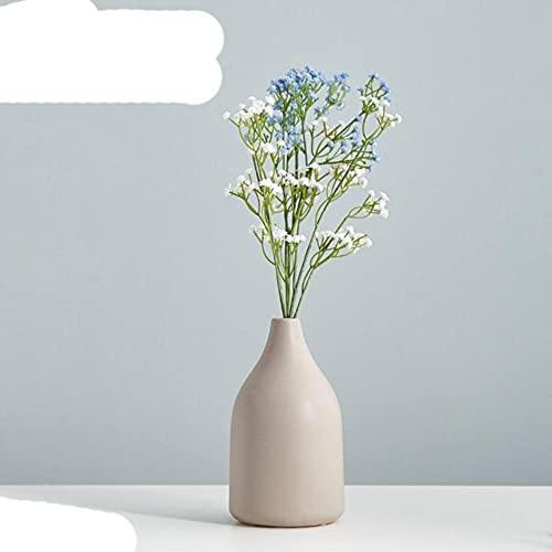Jarrones de cerámica de Estilo nórdico Flor de Planta hidropónica Decoración del hogar para Ramo de Flores Artificiales con jarrón Decoración de Mesa de Boda-Combinación 1