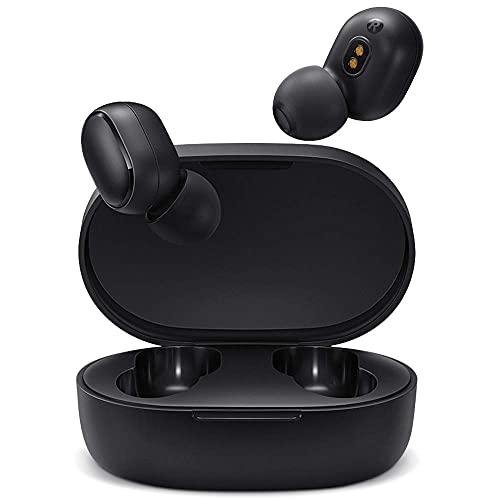 Redmi Airdots 2 Fones de ouvido Bluetooth - Fones de ouvido sem fio compatíveis com iPhone e Android - Fones de ouvido sem fio com tecnologia de cancelamento de ruído e capa de carregamento inteligente - preta