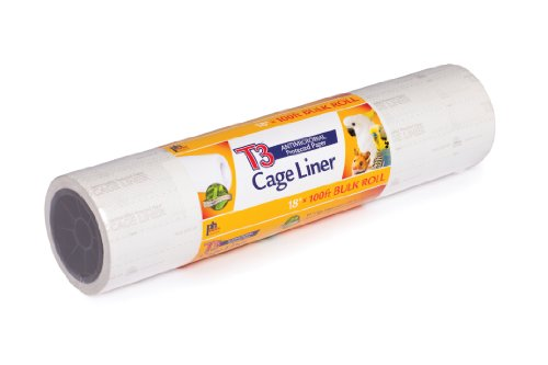 Prevue Hendryx Pet Products T3 Cage Liner, 18-Inch by 100-Feet