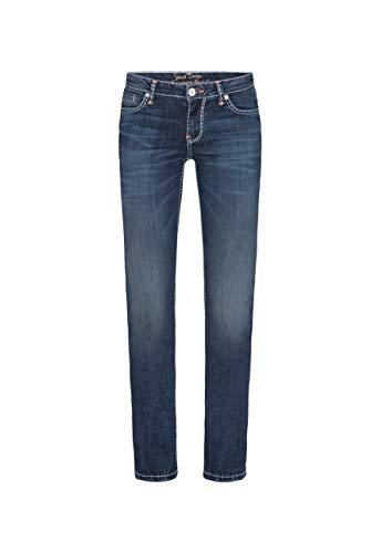 SOCCX Damen Regular Fit Jeans RO:My mit weißen Nähten