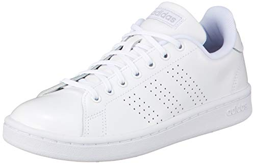 adidas Damen Advantage Tennisschuhe, Ftwbla/Plamat/Grasua, 38 2/3 EU