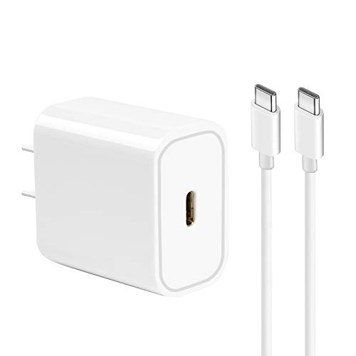 Cargador USB C de 20 W, Nyz PD 20 W, adaptador de corriente USB C compatible con iPhone 12, 12 Pro, 12 Pro Max, 12 Mini, 11Pro, SE 2020, X, color blanco