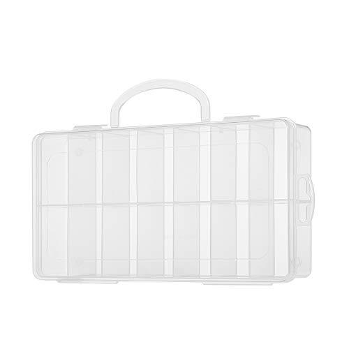 Leeofty Caja de Herramientas de Rejilla de plástico Transparente 14 Cebos Aguja de joyería y Organizador de Almacenamiento de Hilo para la colección de Pantalla