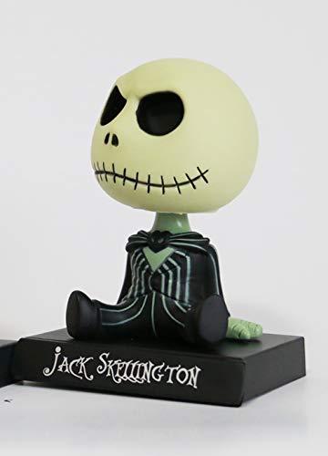 xingguang Anime Niños Regalo Jack Skellington Tim Burton Animación La Pesadilla Antes de Navidad Linda Cabeza Bobble 4.5 pulgadas Figura de acción Juguetes (Color: A)