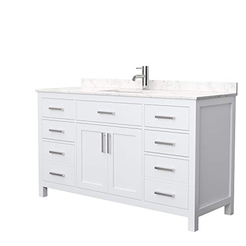 Beckett 60 Inch Single Bathroom Vanity in White,...