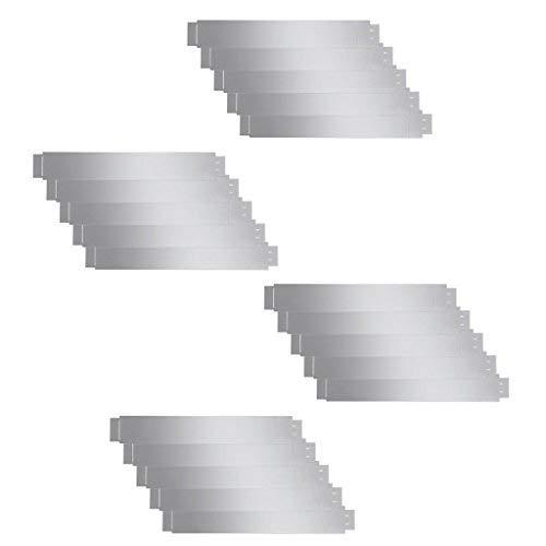 Tidyard Kit de 20 pcs Bordures de Pelouse Flexibles en Acier Galvanisé de Robuste 100 x 15 cm