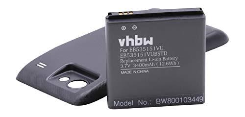 BATTERIA LI-IONI CAPACITÀ MAGGIORE 3200mAh per SAMSUNG Galaxy S Advance, GT-i9070 GT-i9070P sostituisce EB535151VU, EB535151VUBSTD con Coperchio Nero