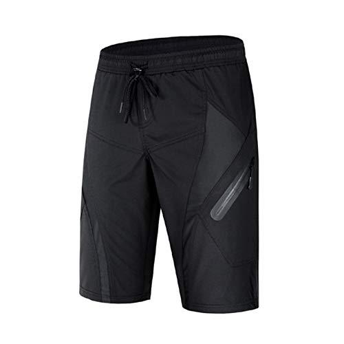 Shorts de Ciclismo para Hombre,3D Pantalones de Bicicleta de Secado Rápido Calzoncillos Transpirables,Livianos y Holgados Ropa Deportiva para Interiores y Exteriores(Size:SG,Color:Negro)