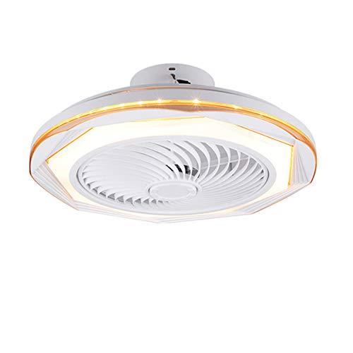 TATANE Invisible Techo Ventilador iluminación 72W Regulable LED Redondo Lámpara de Techo con Mando a Distancia Moderno Silenciar Ventilador Ligero para Sala Habitación Comedor Oficina Ø50CM,E
