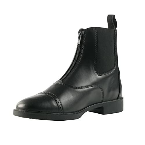 HORZE Wexford Women's Front Zip Paddock Boots, Color: Black, Size: 9 (38236-BL-9)