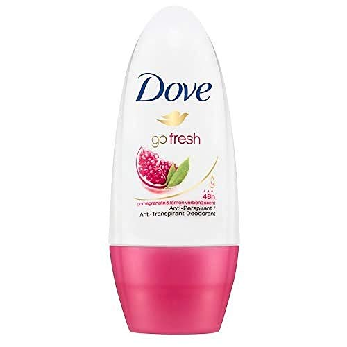 Dove Go Fresh granada Antitranspirante Desodorante Roll-On 50 ml - Envase de 6