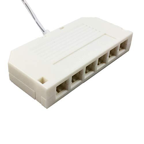 Répartiteur LED 6 sorties mini-prise câble de longueur 10 cm blanc