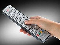 auvisio Lernfähige Fernbedienung: USB-programmierbare 4in1-Universal-Fernbedienung PRC-540.USB (TV Fernbedienung)