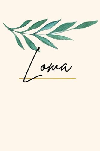 Loma: Sketchbook Personalized for Loma Journaling and Drawing, Doodle Sketch, 120 blank Pages