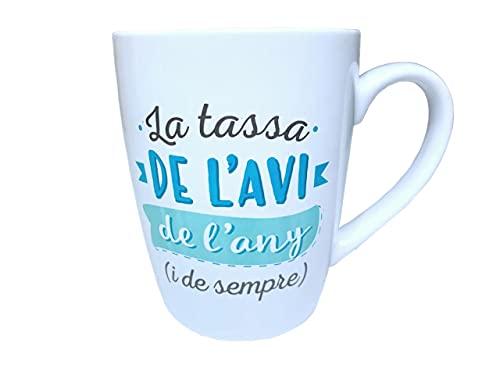 Taza Original de Desayuno para Regalar Abuelo - Tazas Originales para Regalar Dia de la Abuelos - Regalos para Abuelos Desayunos Originales en Catala - Tazas con Mensajes y Frases en Catalan 3