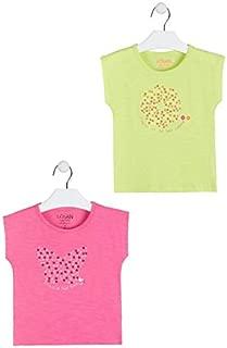 losan 014-1205AL T-shirt /à manches courtes avec imprim/é pour fille