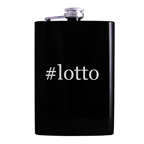 #lotto - 8oz Hashtag Hip Alcohol Drinking Flask, Black