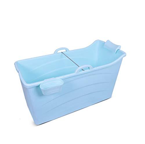 Volwassen opvouwbare bad, huishoudelijke en outdoor draagbare bad bad dikke plastic douche pot huisdier kind douche Cilinder grote wastafel 120 * 52 * 68CM Blauw