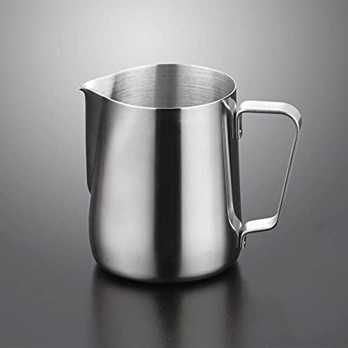Anyiruo Jarra de café espumoso de acero inoxidable con forma de flor de Cappuccino Milk Pot Espresso Tazas Latte Art Espumador de leche Jarra de espuma