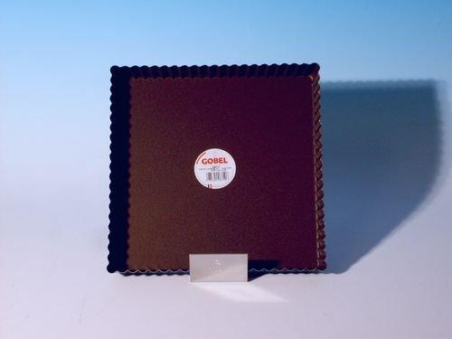 Gobel 226710 Moule à Tarte Cannelé Carré Fond Fixe Anti-Adhérent 23 cm