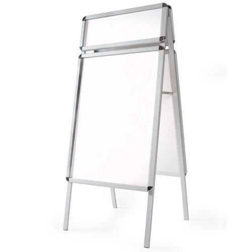 TecTake 400882 - A1 Kundenstopper Aluminium, Doppelseitig mit Topschild und 2 Flächen inkl. 4 Folien