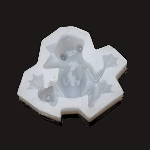 MYhose Silikonform UV-Harz Flüssige Silikonform 3D Frosch Tierharzform DIY Backwerkzeug Schmuck Klar weiß
