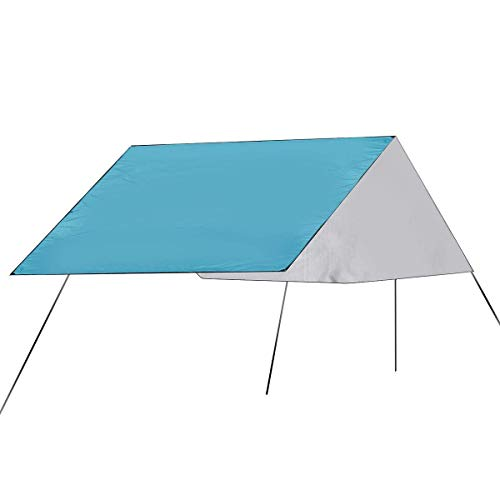 Kids Tent,Outdoor travel tent family camping tent, picnic mat ultralight tent tarpaulin shed hammock shelter (Color : Army Green) fashion