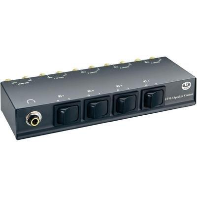 B-Tech Premier 4-Way Hi-Fi Loudspeaker Control, BT913_B (Loudspeaker Control Black)