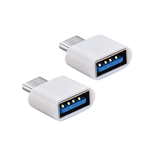 USB C to USB Adapter(2 Pack),USB-C to USB 3.0 Adapter,USB Type-C to USB,Thunderbolt 3 to USB Female Adapter OTG for MacBook Pro,MacBook Air,Surface Go,and More Type-C Devices White