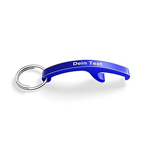 MBH-Shop Flaschenöffner blau mit Ihrer individuellen Gravur